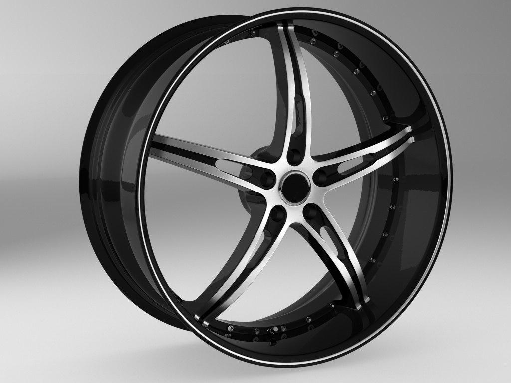 c4d wheel rim