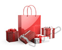 Shopping bag and present