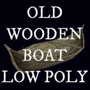 3d old boat model
