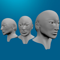 free 3ds model head topology