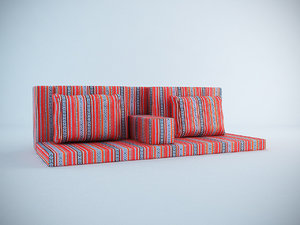 3d model arabic seating cushions