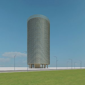 new skyscraper 24 3d max