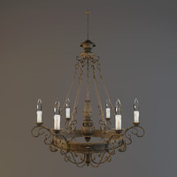 3d model chandelier savoy house finisterre