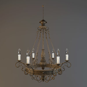 chandelier savoy house finisterre 3d max