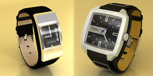 fossil watches male female 3d model