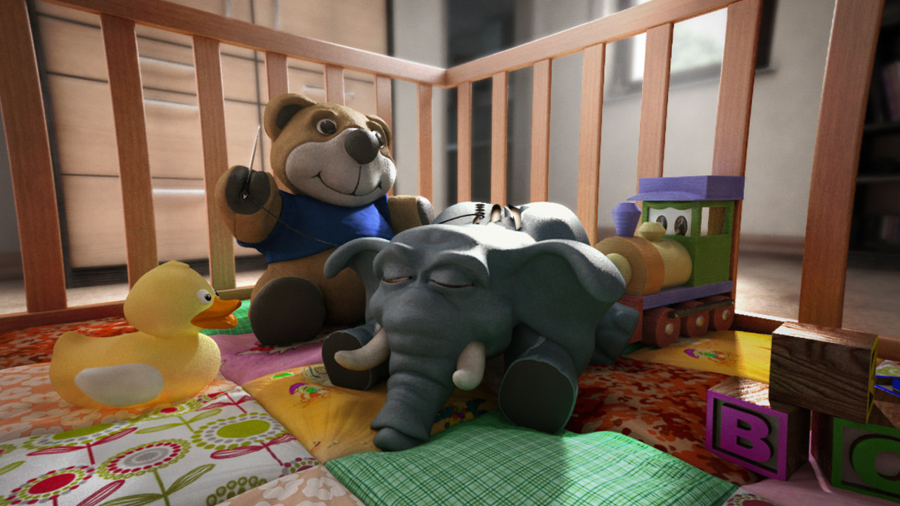 cute scene 3d model