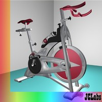 gym bicycle 3d max
