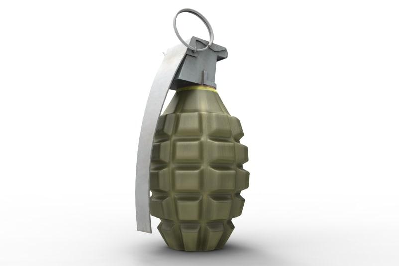 mk 2 hand grenade 3d obj