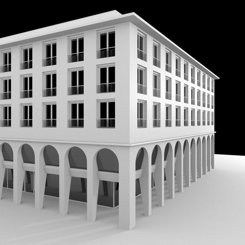 modern urban style 3d model