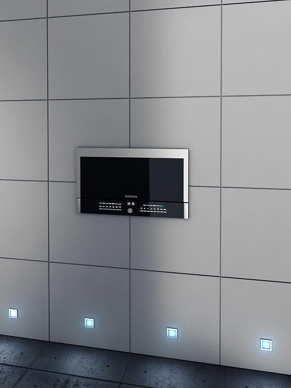 siemens microwave micro 3d model