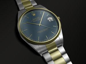 rolex watch 3d max