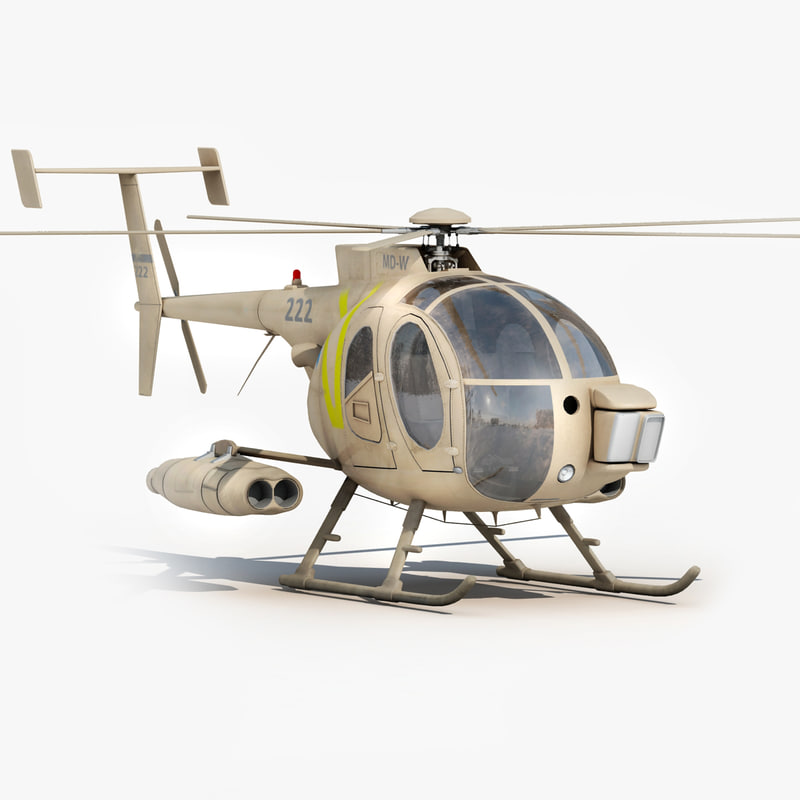 3d md 500 helicopter