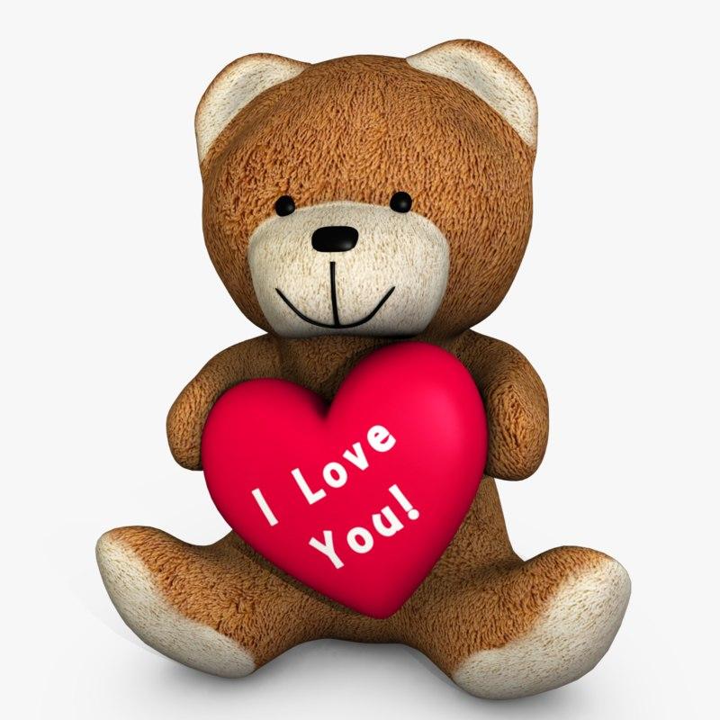 bear heart 3d model