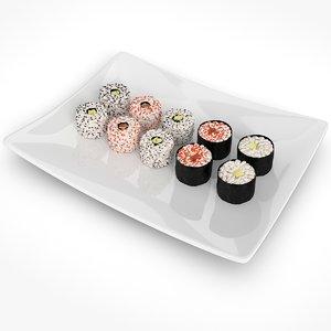 3ds max sushi rolls