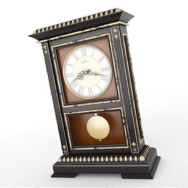 analog mantel clock obj