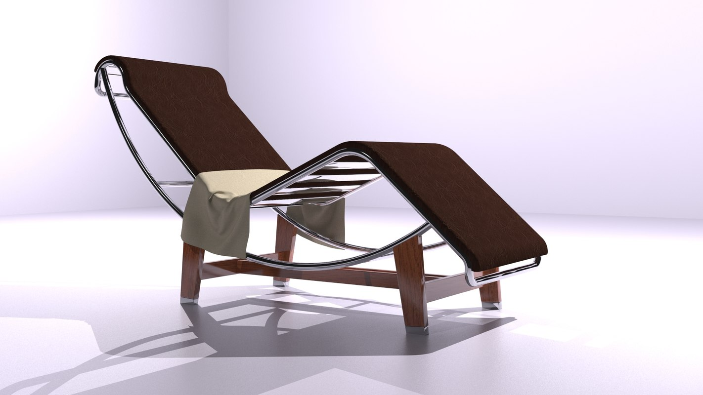 stylish modern chair leather 3d max