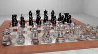 3d chessboard chess
