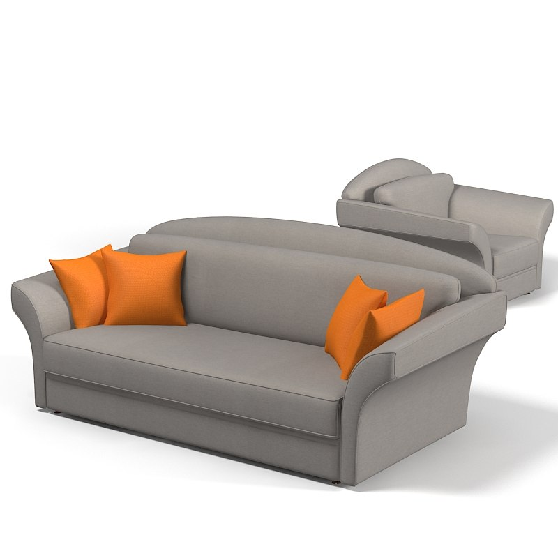contemporary sofa chair 3d model