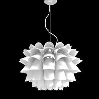 Possini Euro Design White Flower Pendant Chandelier