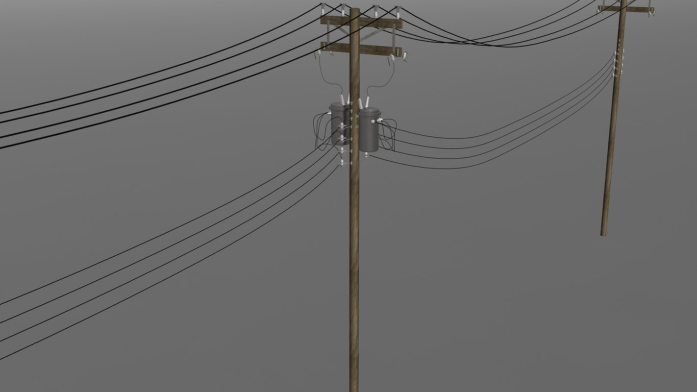 3d utility pole model