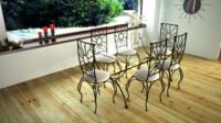 3d model iron dining room sun
