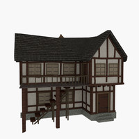 3d 3ds old tudor house