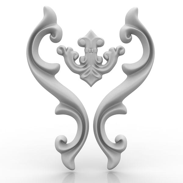 3d architectural element arch model