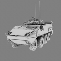 3d armoured vehicle model