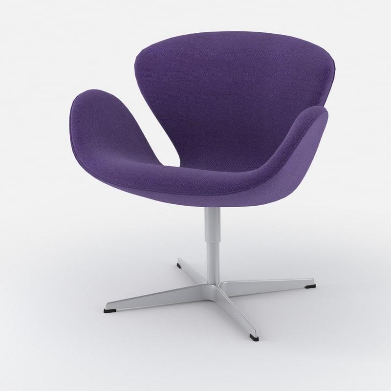 3d classic chair swan fritz hansen