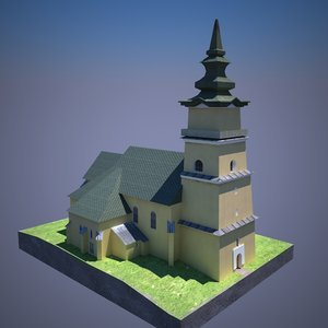 church 3d max