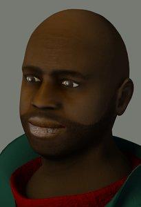 maya black male human character