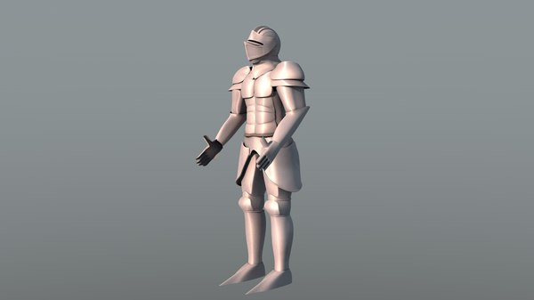 3d model of armor suit