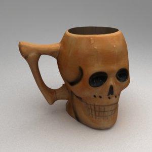 skull mug 3d model