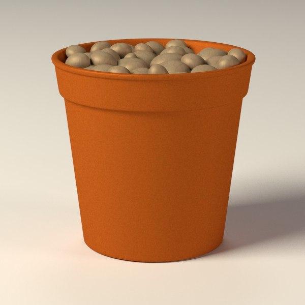 flower pot 3d 3ds