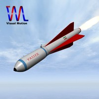 3d model iranian missile yasser