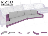 ID001 Pink Long Sofa