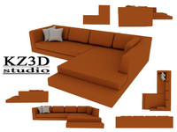 3d brown japanese sofa furniture