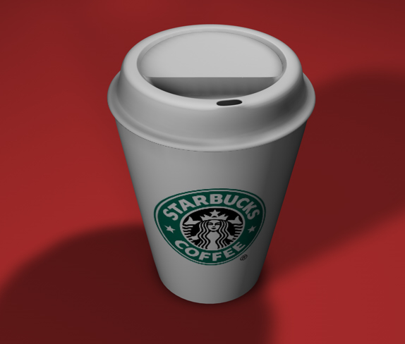 free starbucks coffee cup 3d model
