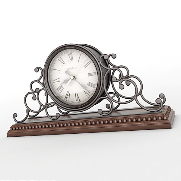 3d model of analog mantel clock