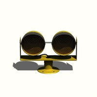 runway guard light 3d obj