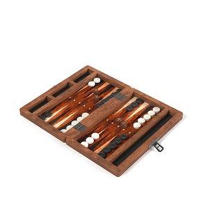 backgammon table 3d fbx