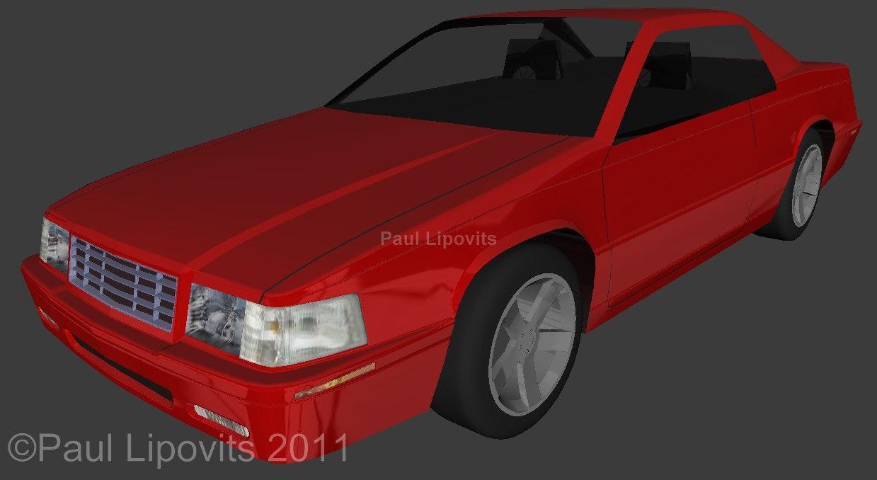 1999 cadillac eldorado car 3d model