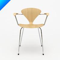 3d cherner metal leg arm chair model