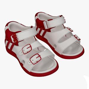 3d max children sandal v4
