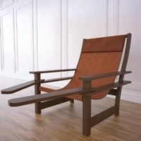 squatter chair garden 3d model