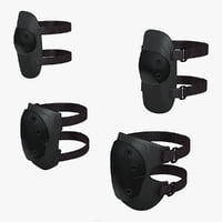military knee elbow pads 3d max