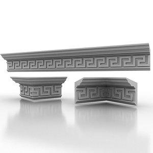 3d model of decorate classical
