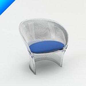 flower chair design pierre paulin 3d model