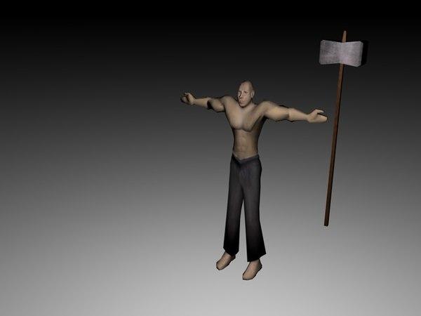 free obj model hammer soldier