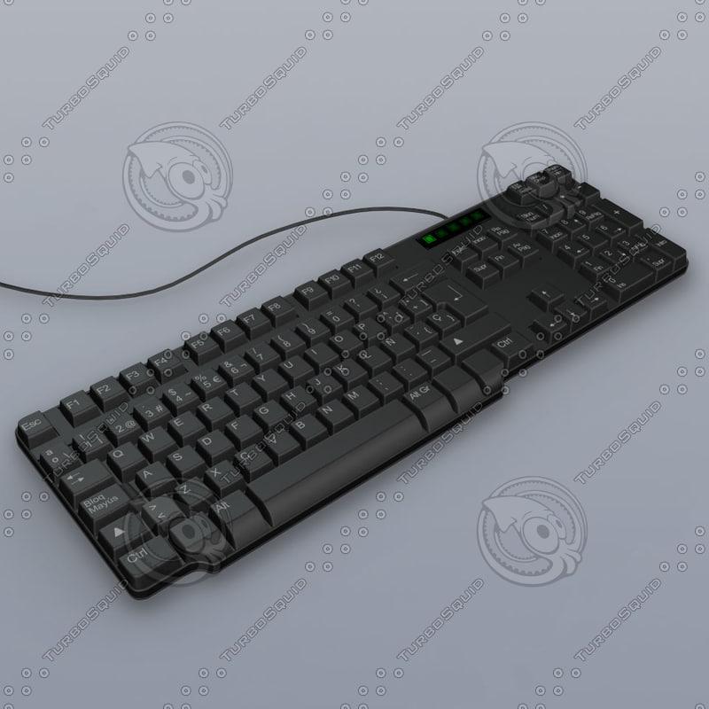 3d model keyboard spanish